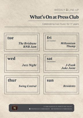 What's on at Press Club
