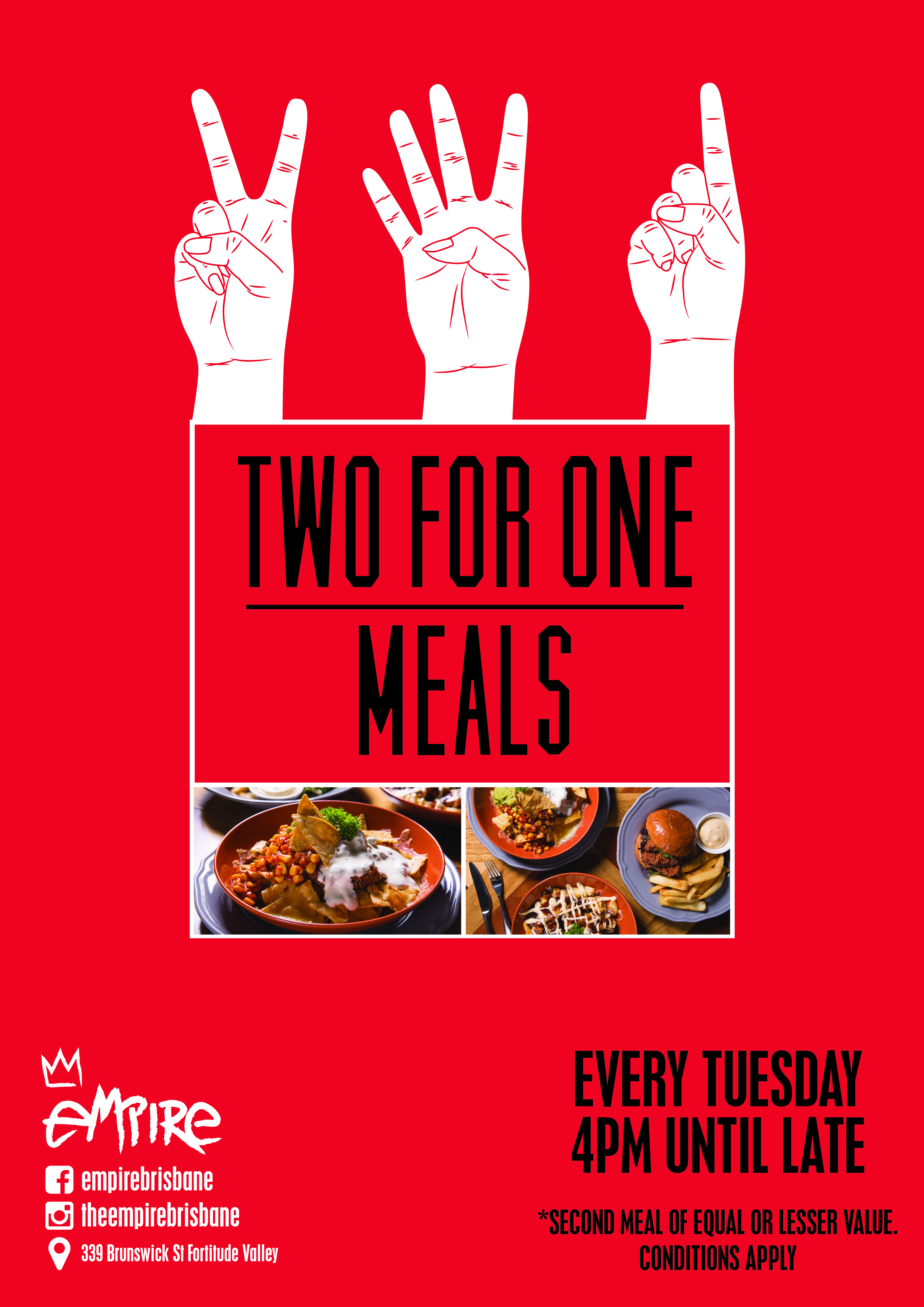 2 For 1 meals at Empire