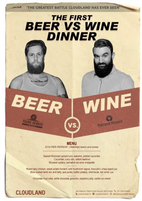 The first Beer vs Wine Dinner