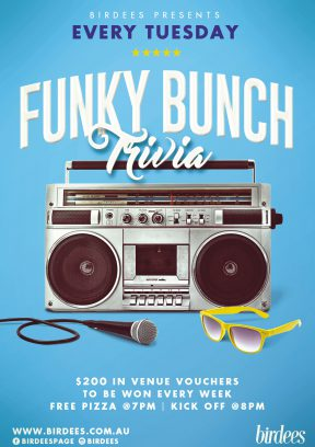 Birdees and The Funky Bunch Trivia